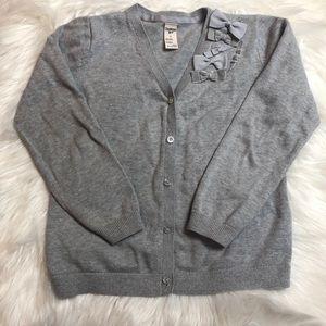 OshKosh gray sweater button down cardigan size 7